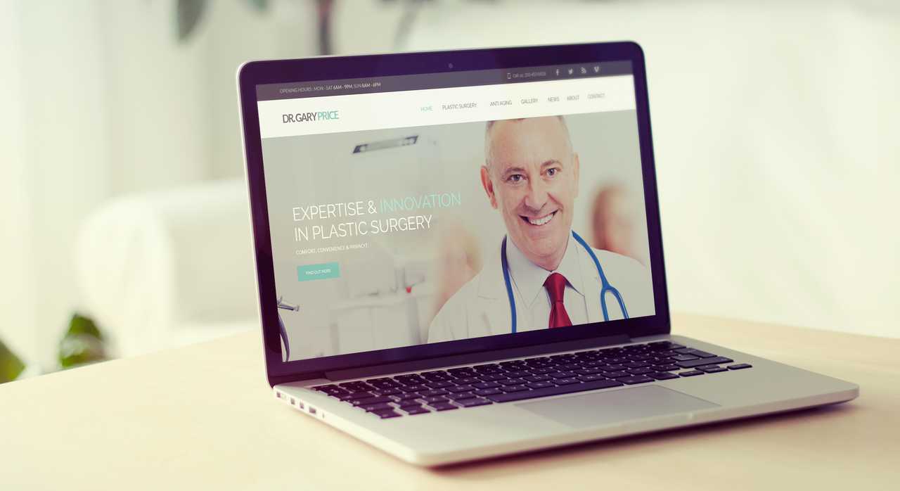 Mockup Landing Page Dr. Gary Price by degraphic on DeviantArt