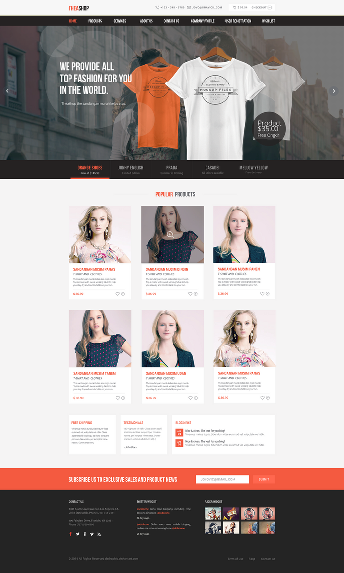 theashop Free PSD Ecommerce 3 by degraphic