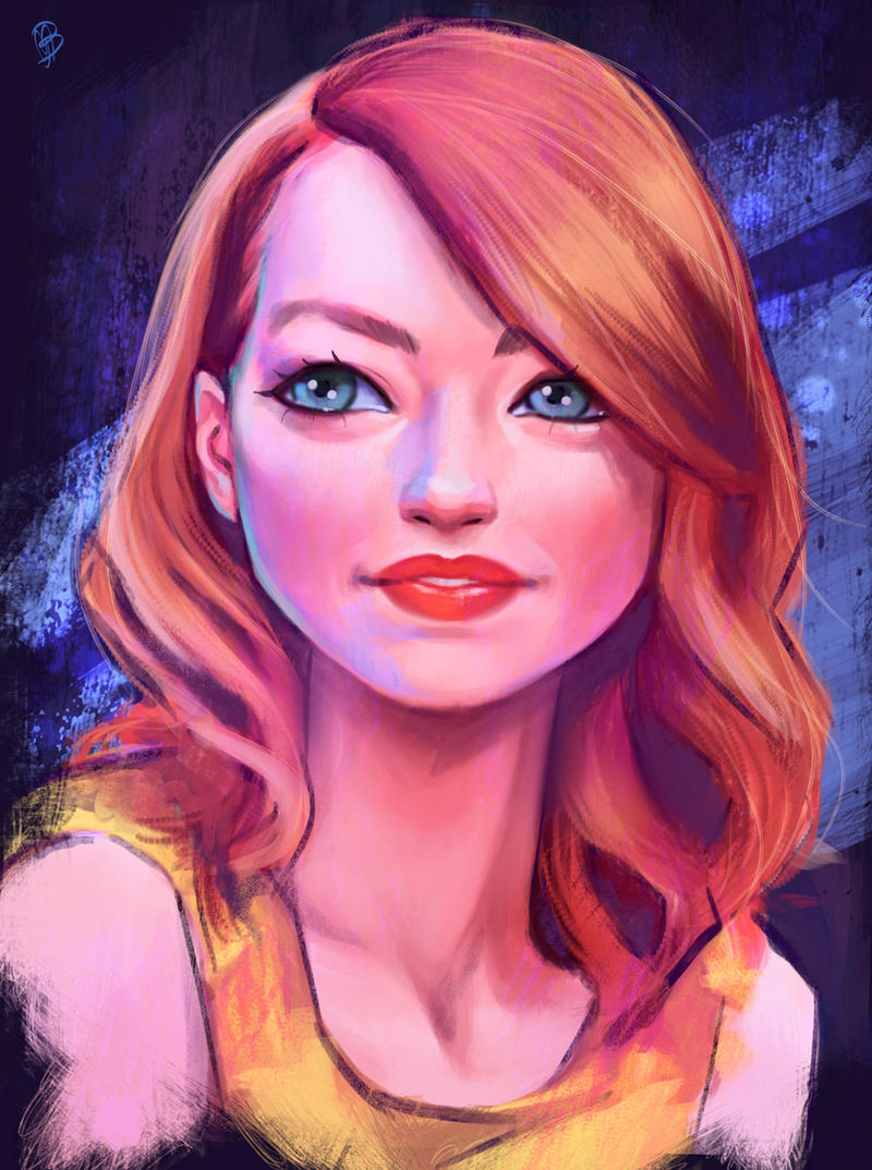 Emma Stone by Lady-ObsidiAnne