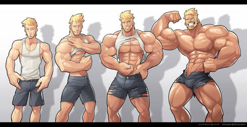 Commission - Muscle Growth Sequence