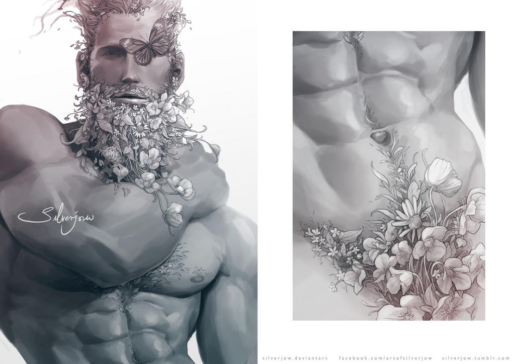 Artstyle experiment + Inspired by flower beard.