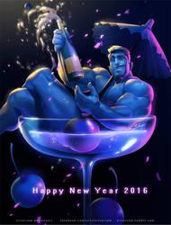 Happy New Year 2016 by silverjow