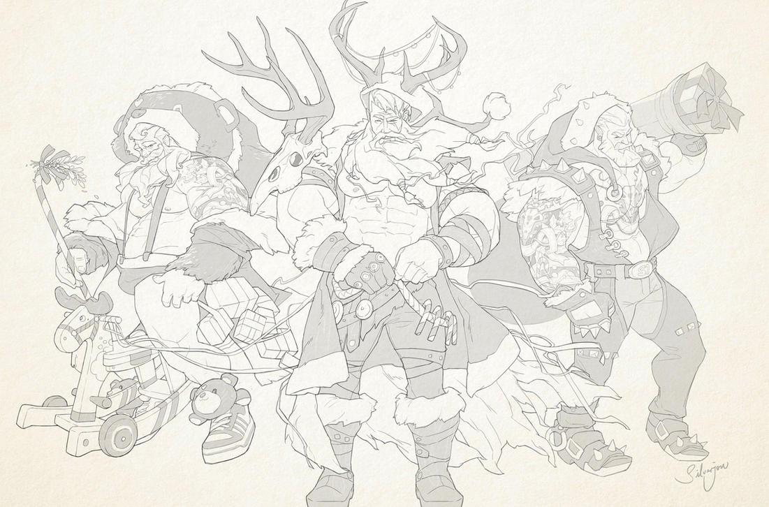 league of santa by silverjow on deviantart