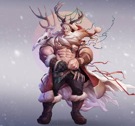 Viking Santa by silverjow