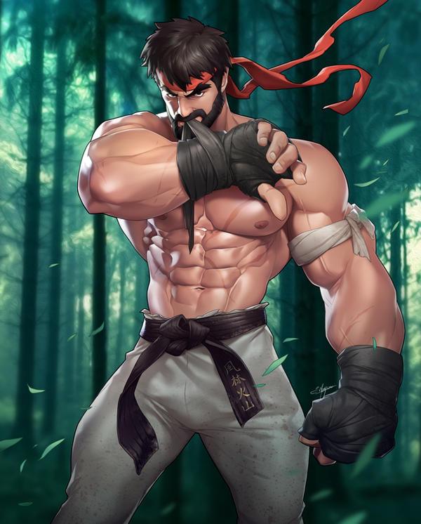 Bearded Ryu by silverjow