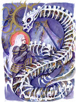 Saint George and the Skeleton Dragon by g-ivanov
