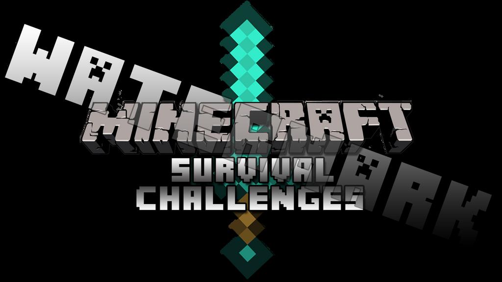 minecraft survival challenges logo v2 by yoyohawk on