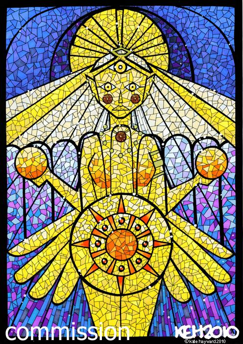 Sun Goddess Glass Window by keh-arts