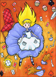 Alice Falling ACEO by keh-arts