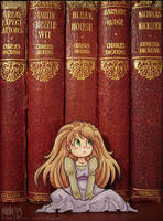 Alice and the old books - paperchild by keh-arts