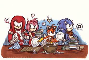 Sonic Boom - Team Work by keh-arts