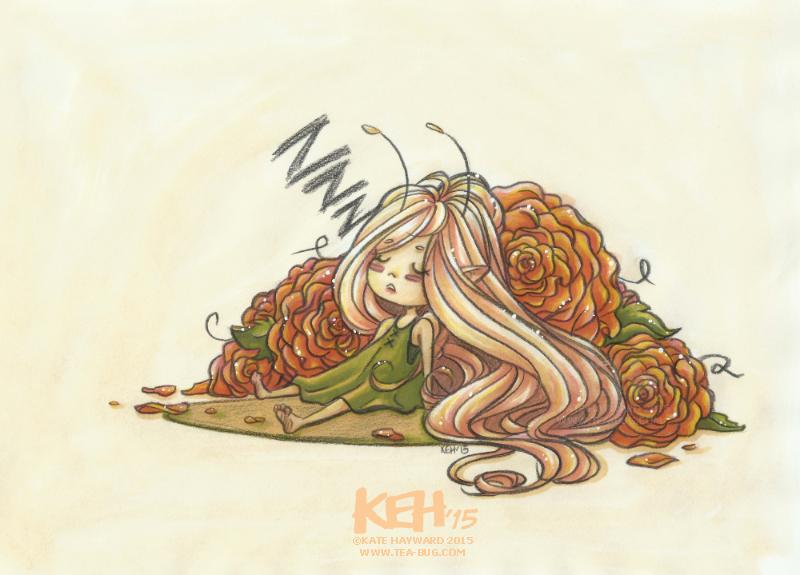 Teasel Asleep by tea-bug