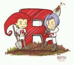Pokemon 20th Fanart:  Team Rocket by keh-arts