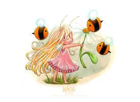 Teasel + Bees
