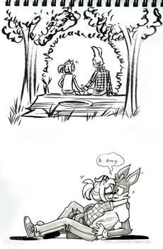 Amy/Johnny AU sketches