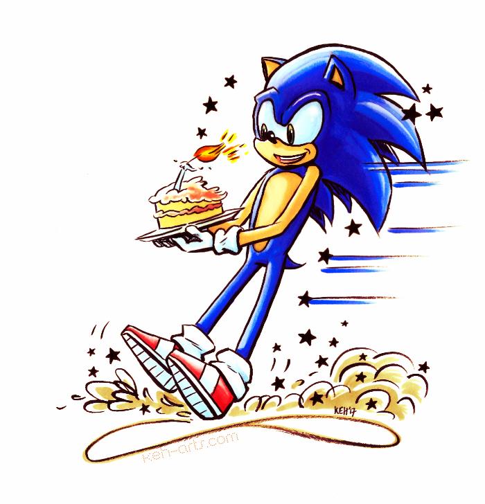 Happy 26th Sonic the Hedgehog by tea-bug