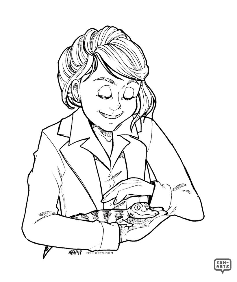 Inktober   Women in Horror   #10   Marisa Kendall by keh-arts