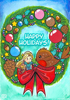 Happy Holidays with Teasel + Robin