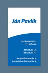 Jan Pavlik bussiness card