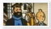Tintin and Haddock stamp