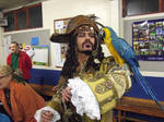 Pirate + real parrot from POTC
