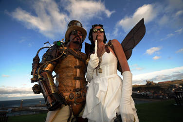 Steampunk and Assistant Sky by overlord-costume-art