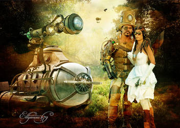 Steampunk Air show by overlord-costume-art