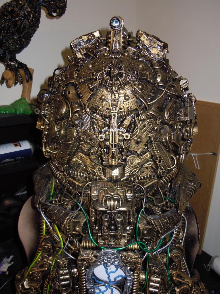 alien astronaut steampunk cyberpunk borg helmet by overlord-costume-art