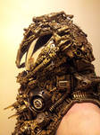 alien astronaut steampunk cyberpunk  borg helmet