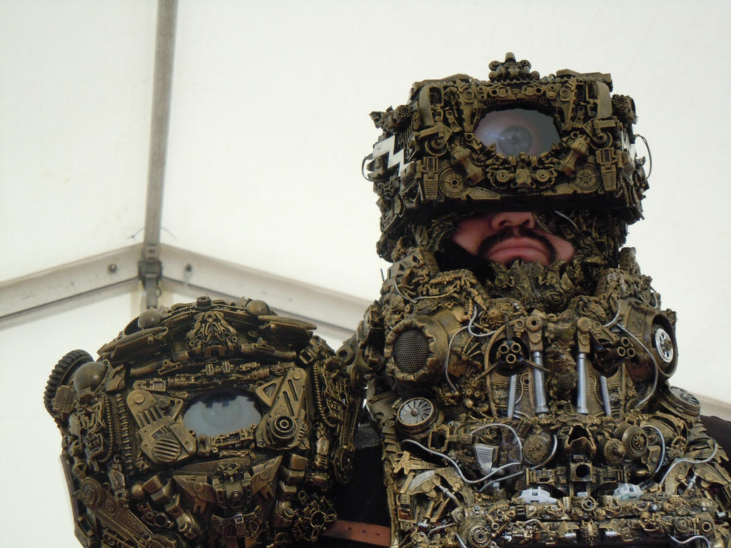 alien astronaut/ Ancient/Astronaut steampunk cybe by cosplayoverlord