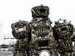 wearable sculpture artist alien astronaut/Ancient by overlord-costume-art