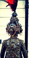 wearable sculpture artist turban and jacket