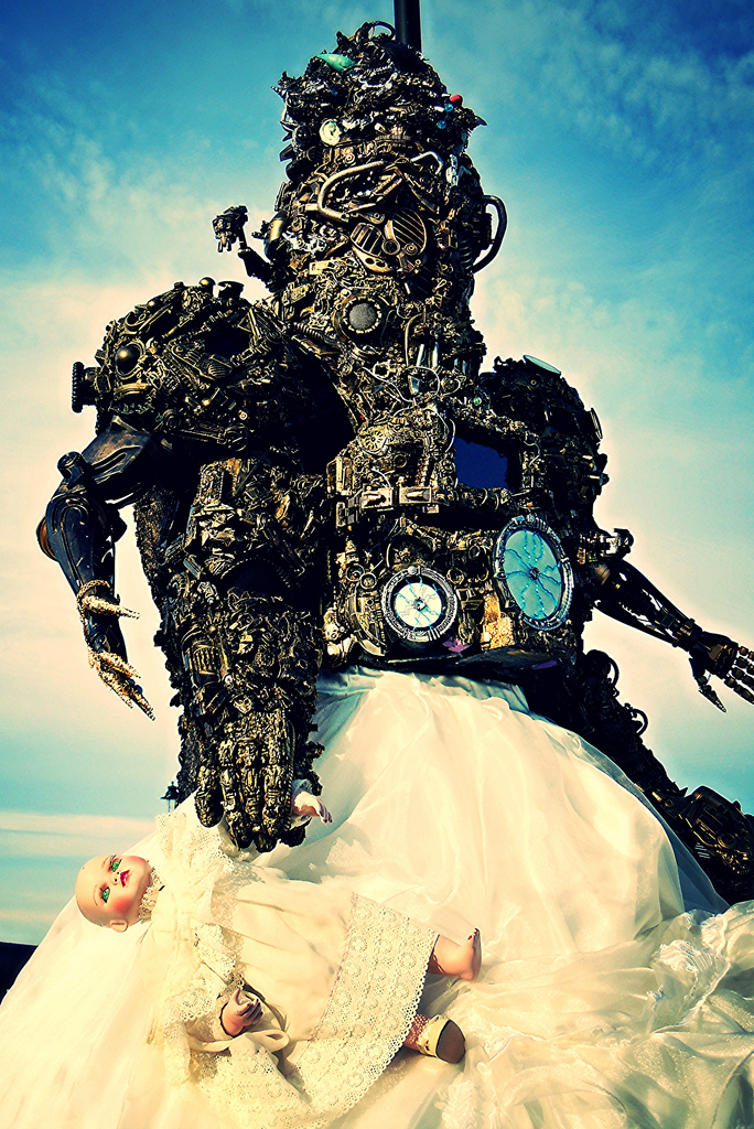 8.5 foot borg in wedding dress by overlord-costume-art
