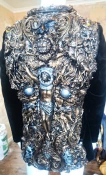 smoking jacket Wearable sculpture fine art artist,