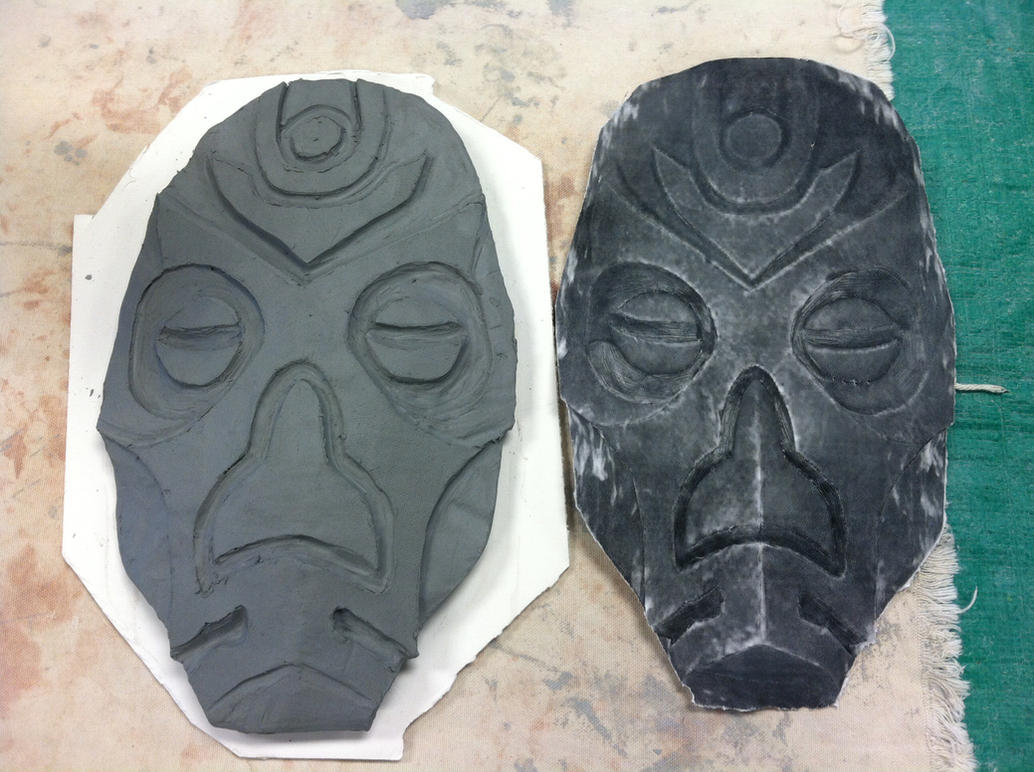 Dragon Priest Mask day 3 by imredneckson