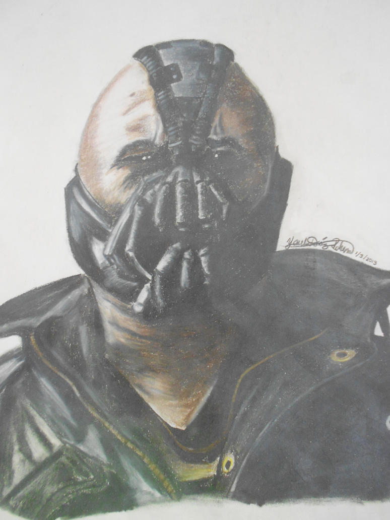 Bane Colored Pencil Portrait Drawing by CreativeWaves on ...