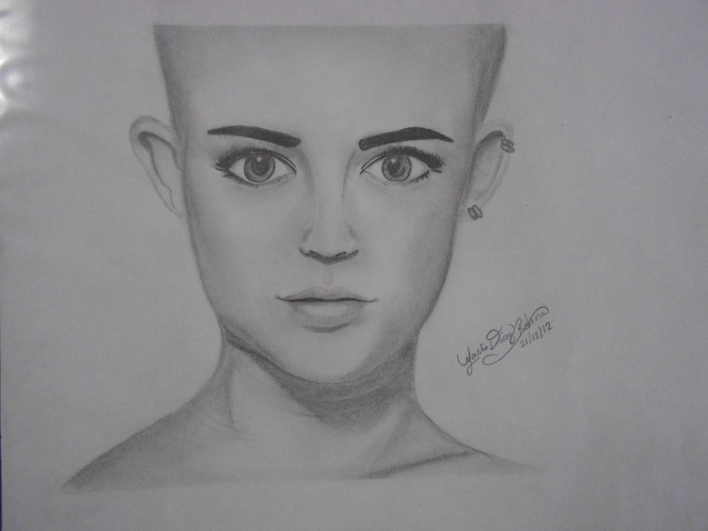 Miley Cyrus Portrait Drawing By Creativewaves On Deviantart