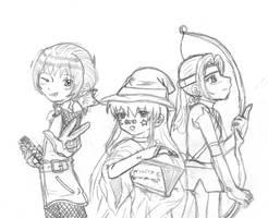Sketch_Swordsman_Mage_Archer by Denna