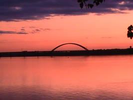 Mississippi River Sunset by Denna