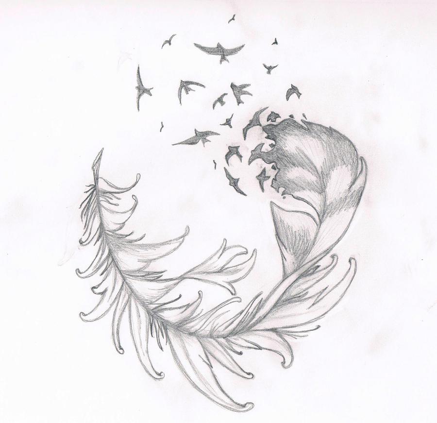 feather tattoo by suigenerissoul on deviantart. Black Bedroom Furniture Sets. Home Design Ideas