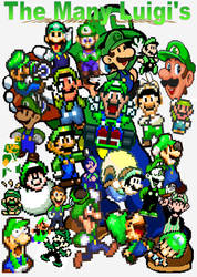 The many Luigi's by Docdanny96