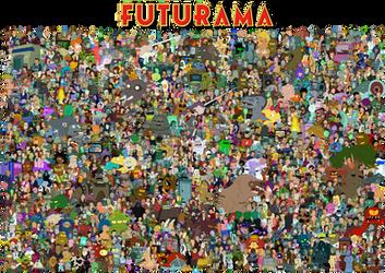 The cast of Futurama