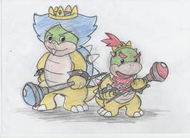 Prince Ludwig and Bowser Jr by Imotep92