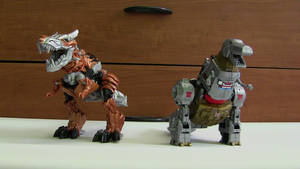 Grimlock T-Rex: Then and Now
