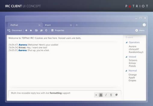 IRC client concept