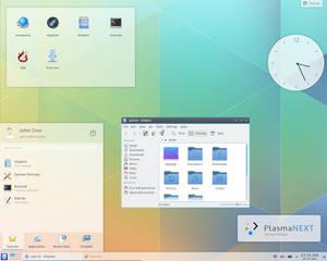 KDE Plasma Next mockup