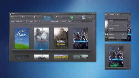 Epic Games Store but it's 2006 - a UI mockup