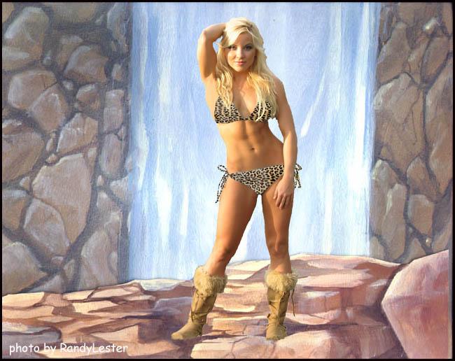 Bikini cave girl