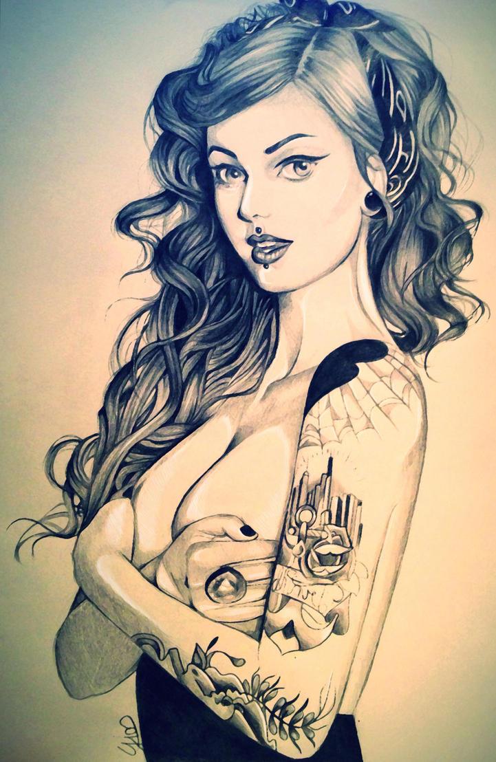 Tattooed Girl by jkio