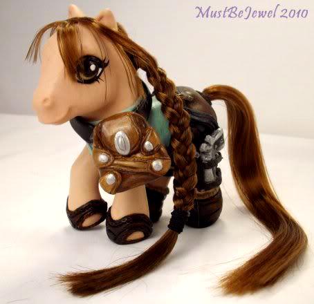 Lara Croft: Tomb Pony by MustBeJewel